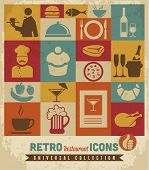 Restaurant icons set.Vector