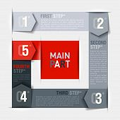 Consecutive steps design template. Fully editable vector. Can be used for any design.