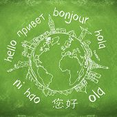 say hello around the world. hello translated in a few international languages