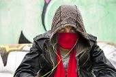 pic of delinquency  - Hooded figure - JPG