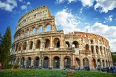 stock photo of stage theater  - Colosseum in Rome - JPG
