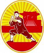 Постер, плакат: Мастер Шаолинь кунг фу боевые искусства каратэ