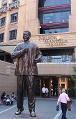 Statue of Nelson Mandela  in Johannesburg, South Africa