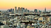 image of kanto  - Dusk cityscape of Shinjuku - JPG