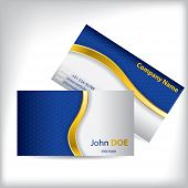 Gold Wave Business Card Design