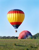 Hot Air Balloons Landing
