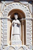 Statue of St. Jerome, Cathedral, Comayagua, Honduras.