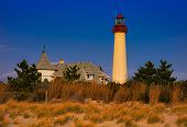 Abendlicht auf der Cape kann Point Lighthouse, Cape May, New Jersey, USA