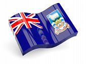 3d flag of falkland islands