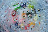 Many Colorful Water Drop Background