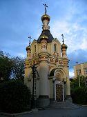 stock photo of ekaterinburg  - evening view the chapel of saint catherine - JPG