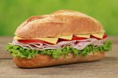 Sub Sandwich With Ham