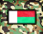 foto of ami  - Amy camouflage uniform with flag on it Madegascar - JPG