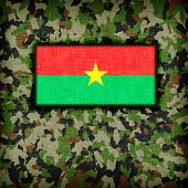 foto of ami  - Amy camouflage uniform with flag on it Burkina Faso - JPG