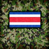 picture of ami  - Amy camouflage uniform with flag on it Costa Rica - JPG