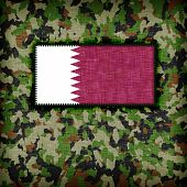 foto of ami  - Amy camouflage uniform with flag on it Qatar - JPG