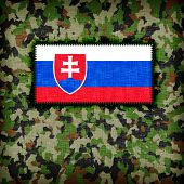 image of ami  - Amy camouflage uniform with flag on it Slovakia - JPG