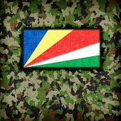picture of ami  - Amy camouflage uniform with flag on it The Seychelles - JPG
