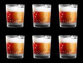Stumpfen Trinkgläser mit Jahr zahlen