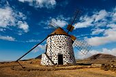 Ancient Wind Mill Fuerteventura, Canary Islands, Spain