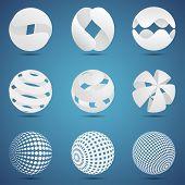 White 3d spheres