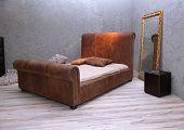 Leather Vintage Bed