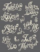 Hand drawn text lettering vector 1