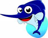 Cute Sword fish, Marlin fish