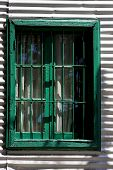 Venetian Blind And A Metal Wall