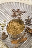 picture of garam masala  - Brown Indian spices - JPG