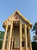 The Wat Pasutthawas Buddhist Monastery Facade,  Sakon Nakorn, Thailand