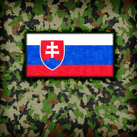 picture of ami  - Amy camouflage uniform with flag on it Slovakia - JPG