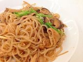 Fried Konjac Noodles With Mushroom And Sauce