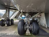 Undercarriage Of Jumbo Jet