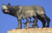 Capitoline Wolf Romulus Remus Statue Forum Rome Italy