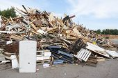 stock photo of waste disposal  - A waste disposal facility with junk and rubbish - JPG