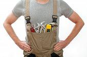 Handyman In Overalls