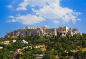 stock photo of parthenon  - Parthenon temple in Acropolis at Athens Greece  - JPG