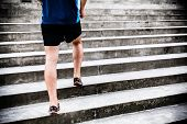 Man Running On Stairs, Jogger