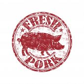 Fresh pork grunge rubber stamp