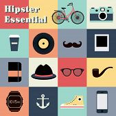 Hipster style elements  set for retro design