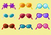 vector set of sunglasses