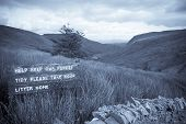 Keep Our Forest Tidy Sign On Mountain Road In County Donegal