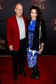 NEW YORK- OCT 20: Actor Patrick Stewart and daughter Sophie Alexandra Stewart attend the Broadway op