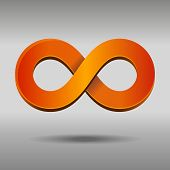 stock photo of mobius  - Vector illustration of sleek style Infinity Symbols - JPG