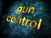 Protection concept: Gun Control on digital background