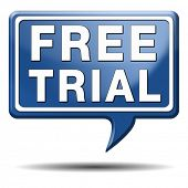 free trial product test sample icon or label. Try it for free and test the products