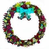 Wreath With Burgundy Grapes