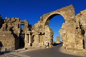 Vespasian Gate In Side, Turkey