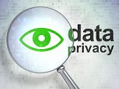 Privacy concept: Eye and Data Privacy with optical glass